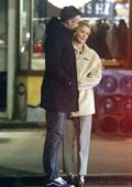Jennifer Lawrence and Cooke Maroney spotted outside a sushi restaurant as they wait for their ride during date night in New York City