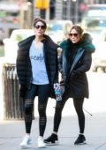 Jennifer Lopez out for a morning gym workout session with her sister Lynda in New York City