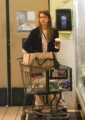 Jessica Alba seen out in her pink pajamas while shopping groceries at Whole Foods in Beverly Hills, Los Angeles