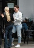 Joey King bids farewell to her friends after lunch at Joan's on Third in Studio City, Los Angeles