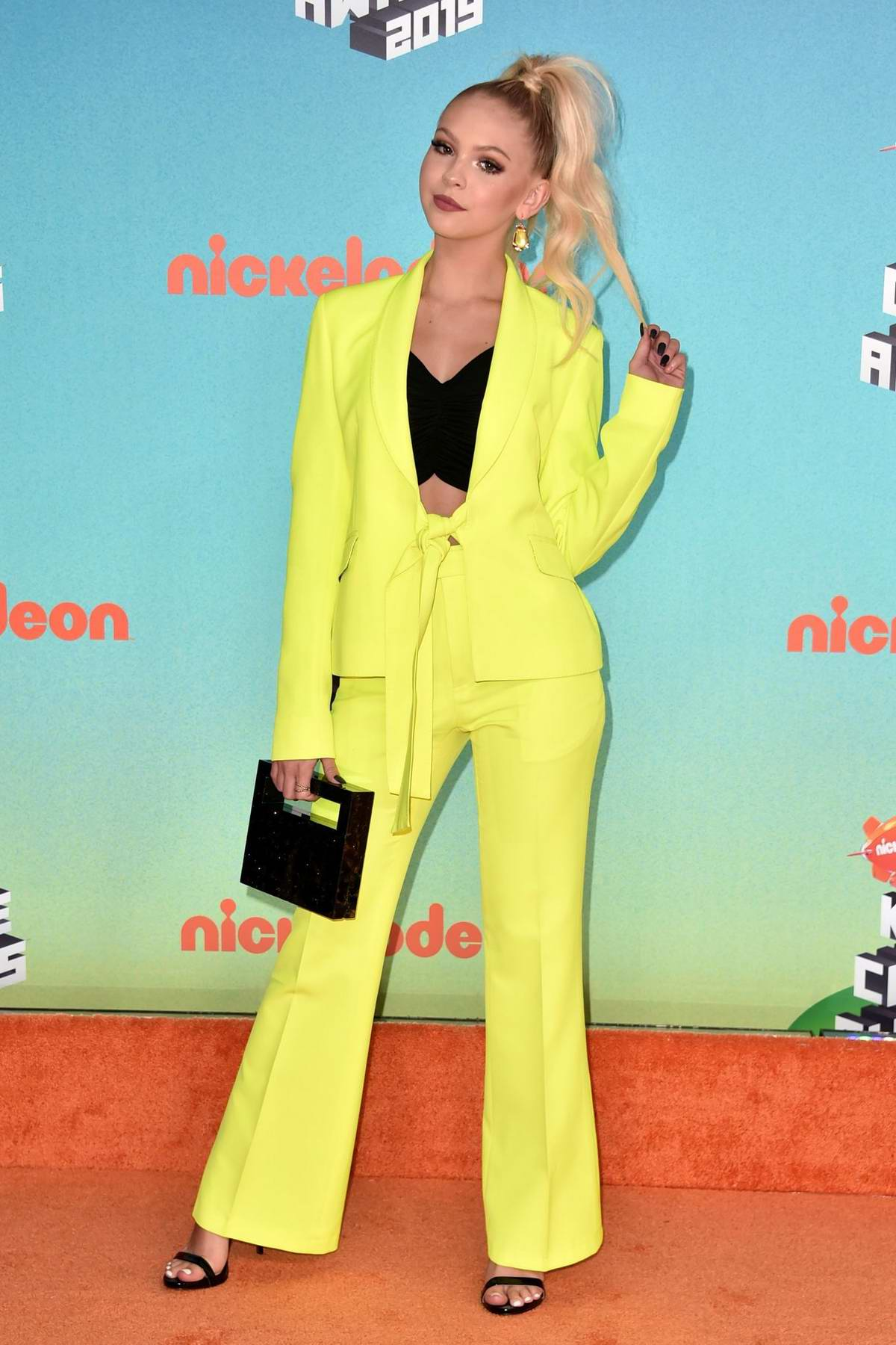 Jordyn Jones attends the Nickelodeon's 2019 Kids' Choice Awards at Galen Center in Los Angeles