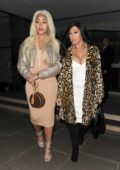 Jordyn Woods arrives at Zuma restaurant with her mother in London, UK