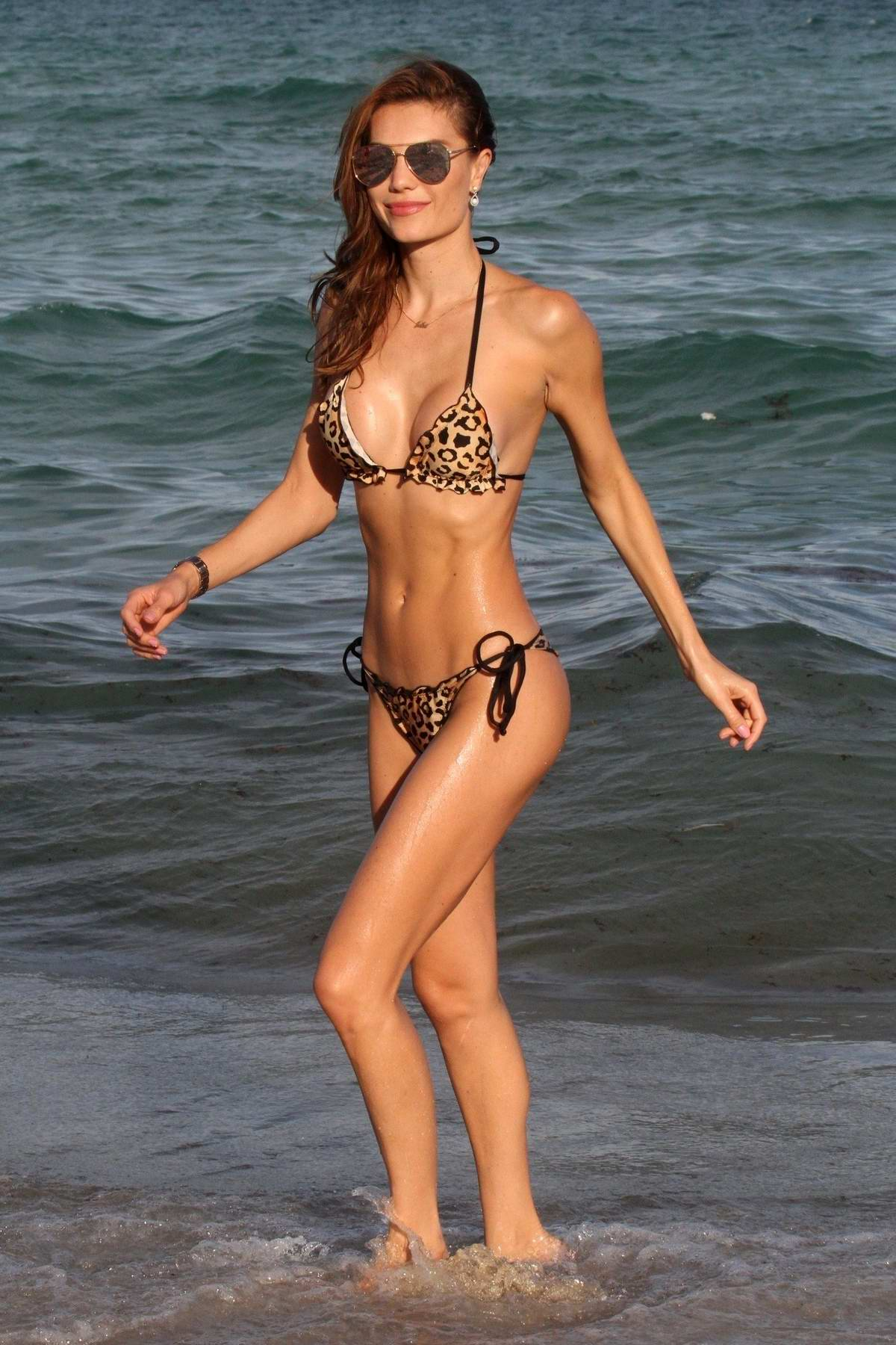 Julia Pereira spotted in multiple bikinis during a beach photoshoot in Miami, Florida