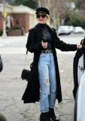 Julianne Hough rocks a dark chic look as she leaves lunch at Granville Restaurant in Studio City, Los Angeles