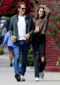Kaia Gerber steps out for lunch with her Dad Rande Gerber in West Hollywood, Los Angeles