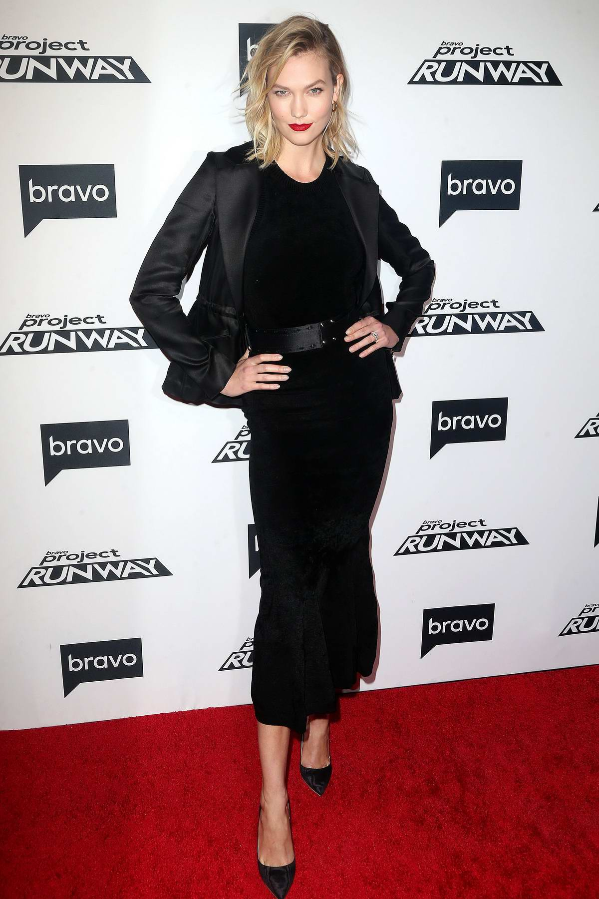 Karlie Kloss attends 'Project Runway' TV show premiere in New York City