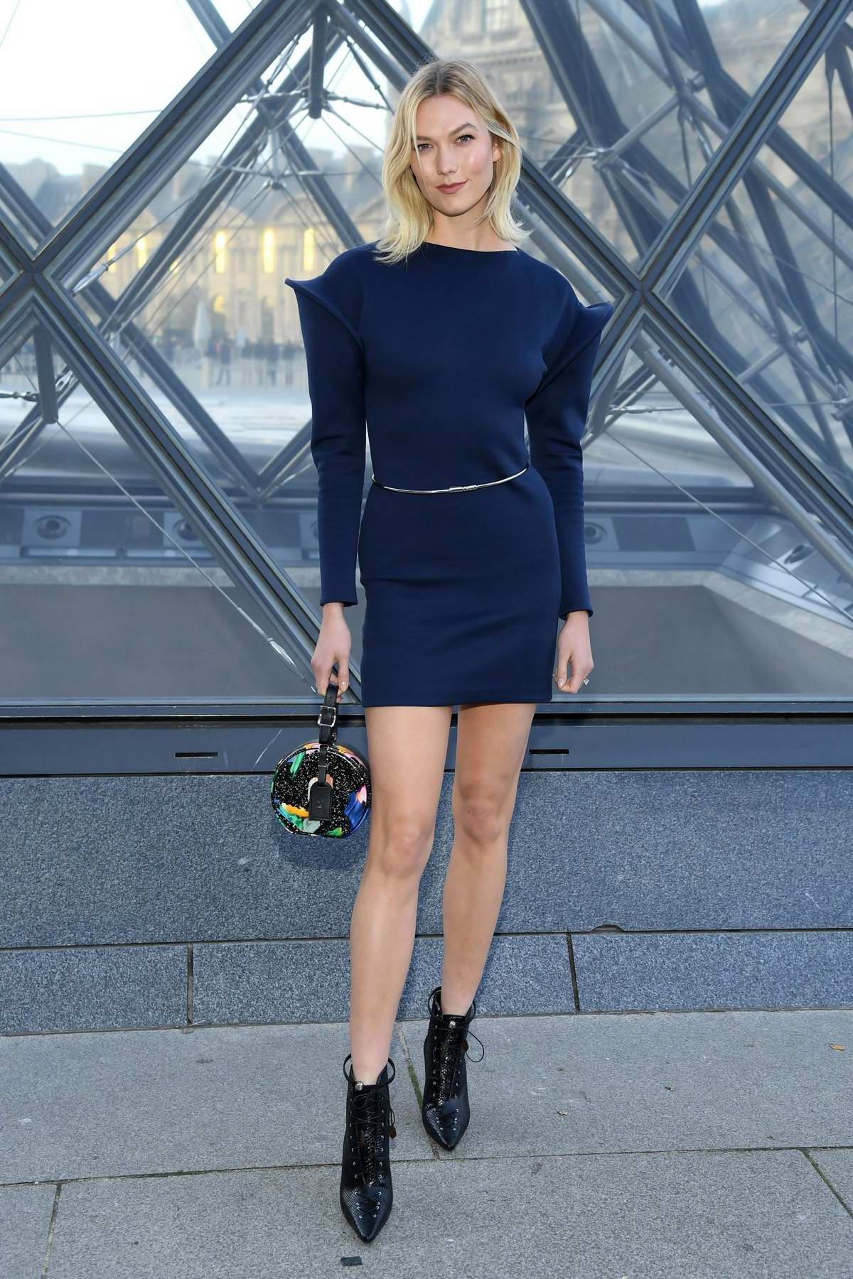 Karlie Kloss attends the Louis Vuitton show during Paris Fashion Week F/W 2019/20 in Paris, France