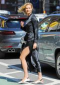 Karlie Kloss looks gorgeous as she steps out in an all black ensemble in Soho, New York City