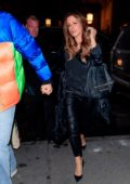 Kate Beckinsale and Pete Davidson hold hands as they go into the SNL after party in New York City