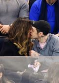Kate Beckinsale and Pete Davidson share kisses during New York Rangers Game at the Madison Square Garden in New York City