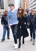 Kate Beckinsale and Pete Davidson wraps arms around each other while attending the NY Rangers game at Madison Square Garden in New York City