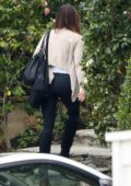 Kate Beckinsale seen arriving back home after a night out in Los Angeles