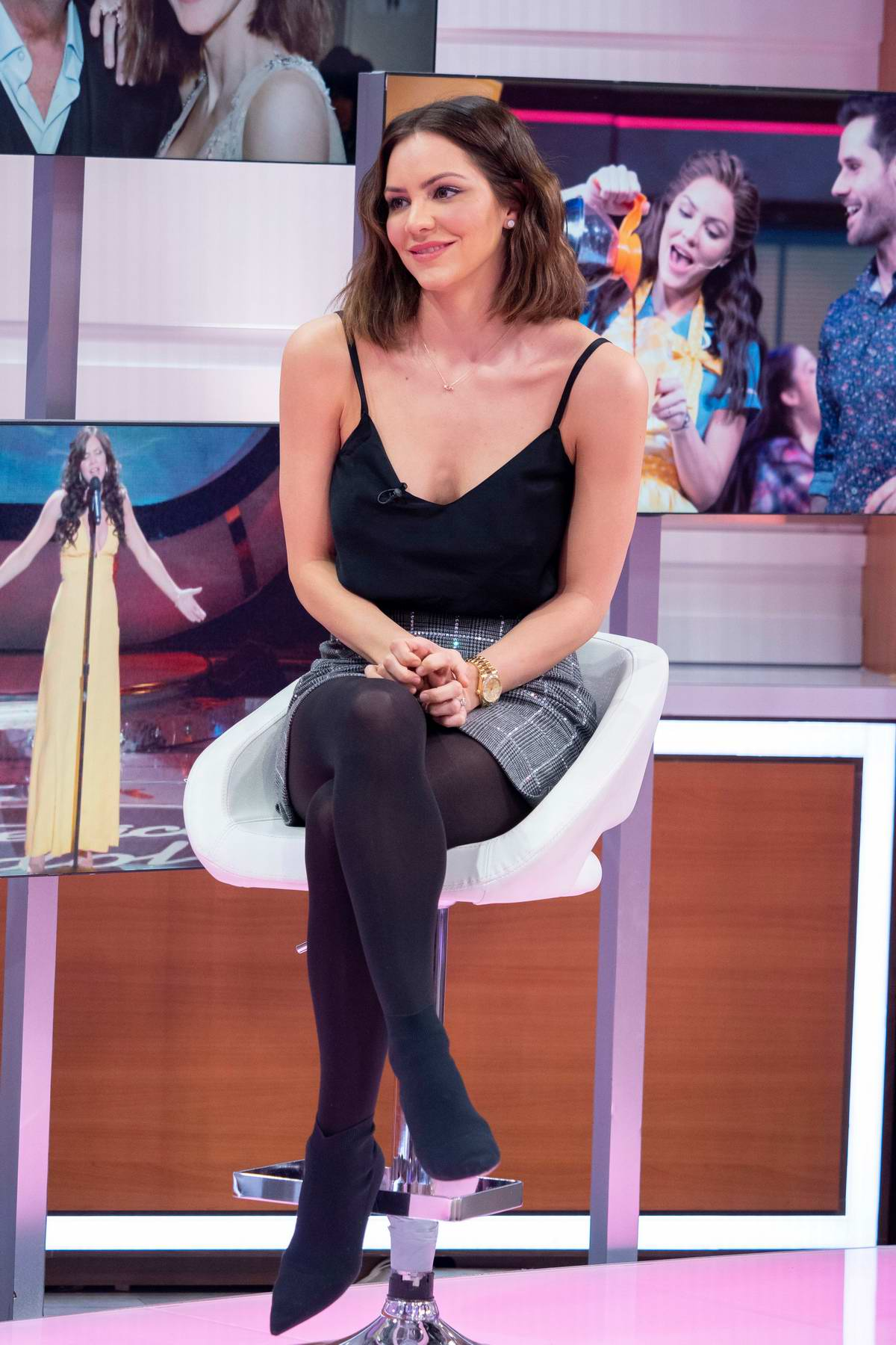 Katharine McPhee makes an appearance on Good Morning Britain TV Show in London, UK