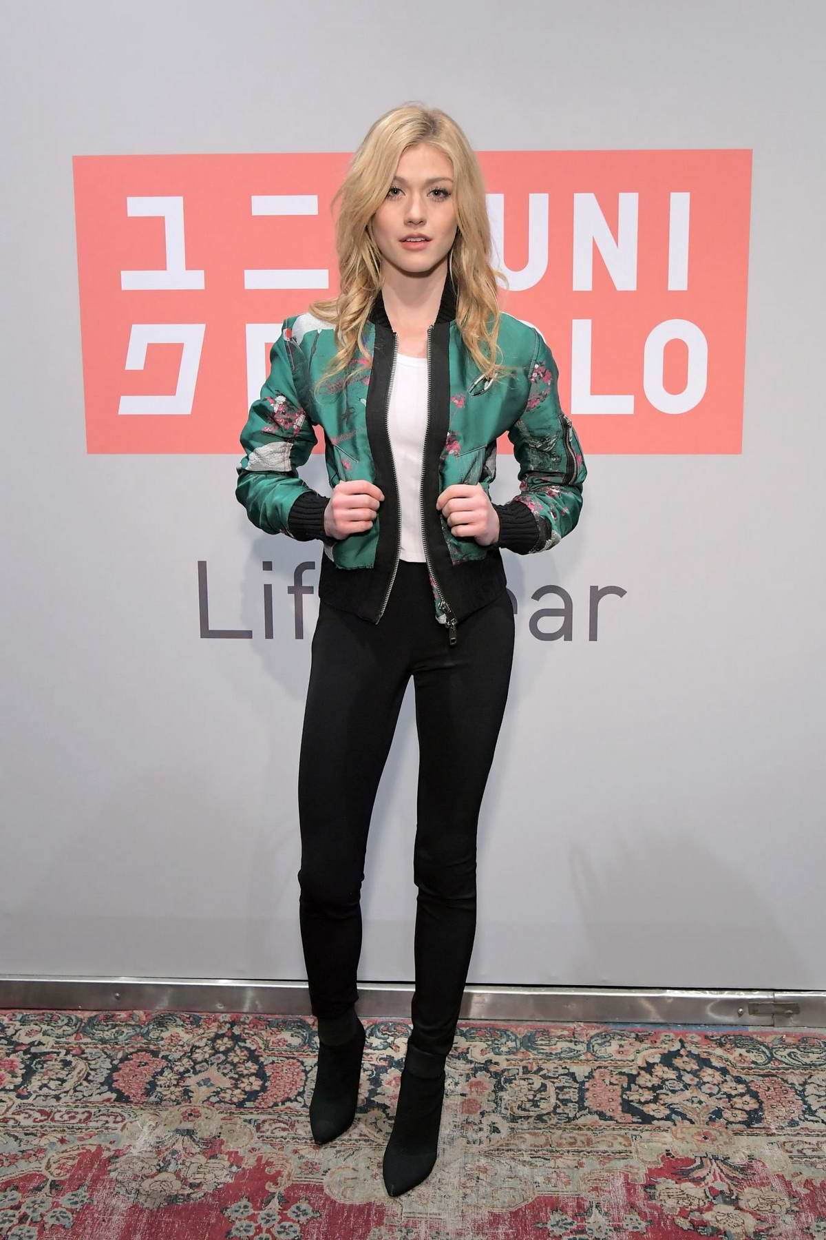 Katherine McNamara attends the UNIQLO 2019 Collections Celebration at Smogshoppe in Los Angeles