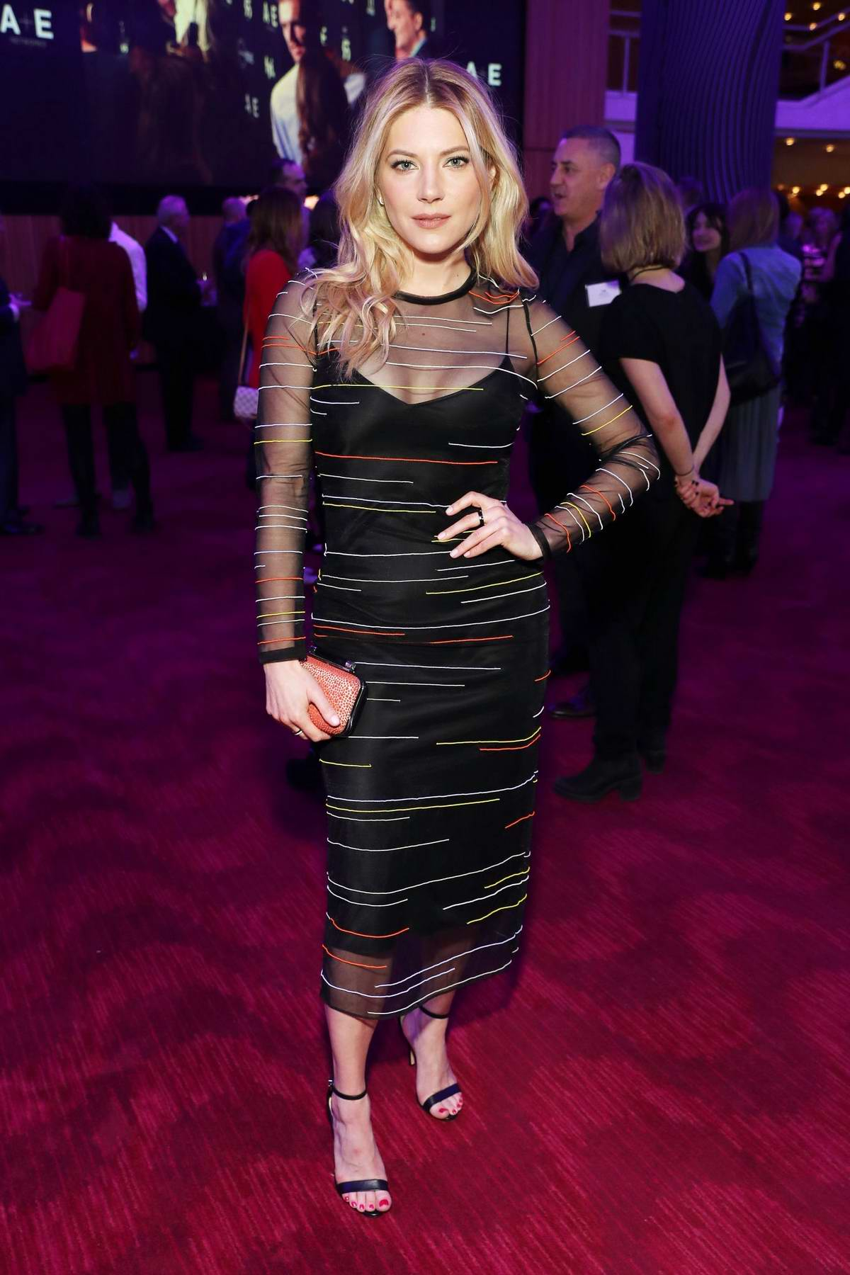 Katheryn Winnick attends the 2019 A+E Upfront at Jazz at Lincoln Center in New York City
