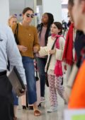 Katie Holmes and daughter Suri Cruise arrive at Athens International Airport in Greece