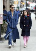 Katie Holmes takes a walk with daughter Suri Cruise in New York City