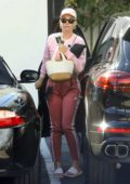 Katy Perry is extra careful as she squeezes out of parking space in Los Angeles