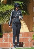 Katy Perry spotted in her all black Adidas gear while out in Los Angeles