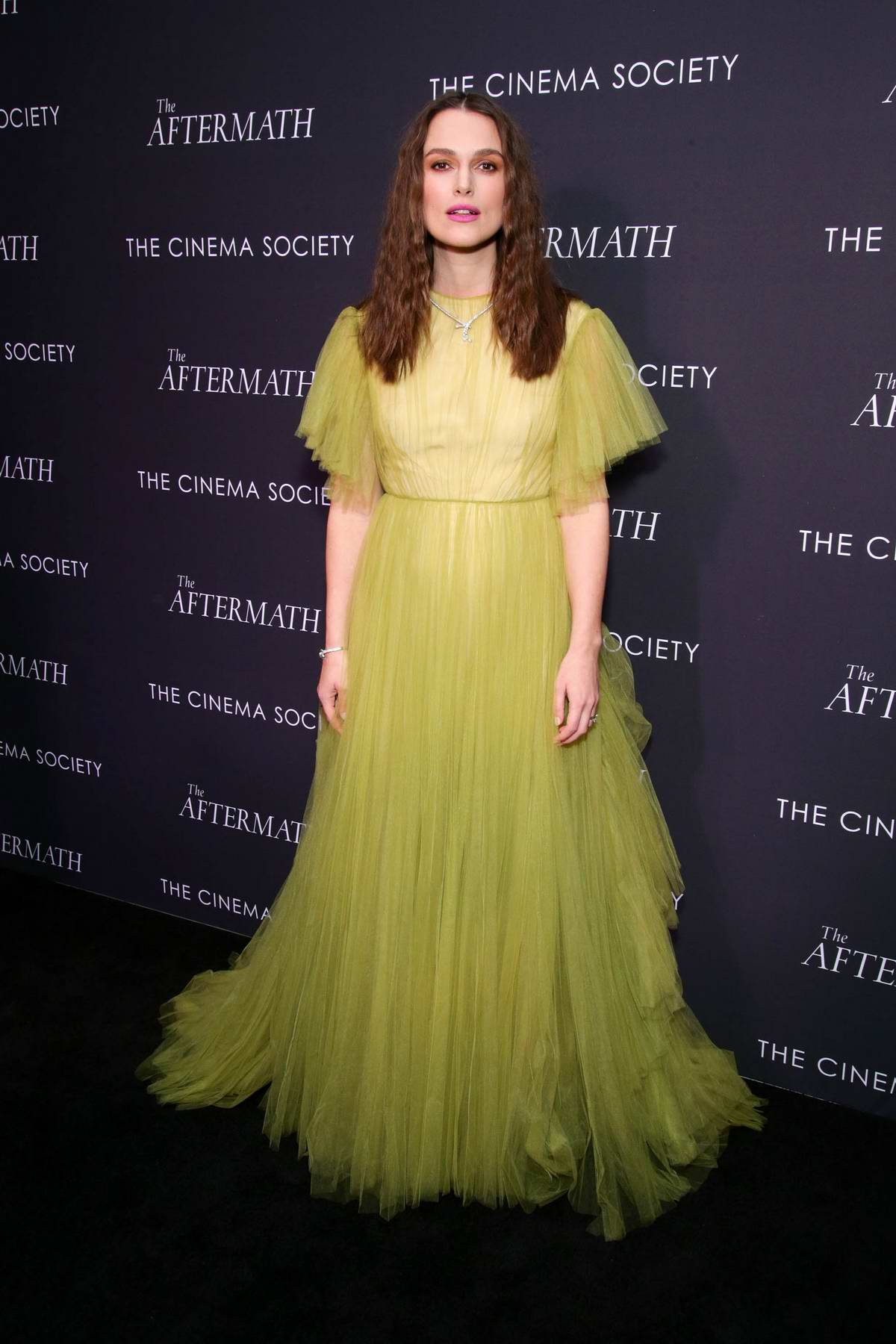 Keira Knightley attends 'The Aftermath' screening in New York City