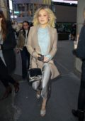 Kelli Berglund leaves after a 'Now Apocalypse' promo at MTV studios in Times Square, New York City