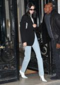 Kendall Jenner seen leaving her hotel to go to Longchamp office in Paris, France