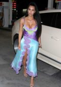 Kim Kardashian stops by a gas station after attending Chance The Rapper's wedding in Newport Beach, California