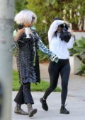 Kourtney Kardashian keeps a low profile as she visits a friend in Calabasas, California