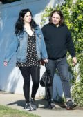 Krysten Ritter and boyfriend Adam Granduciel head to a weekend class for new parents at Home Service of Los Angeles