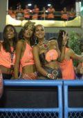 Lais Ribeiro and Lays Silva out in costume celebrating Rio's Carnival Parade in in Rio De Janiero, Brazil