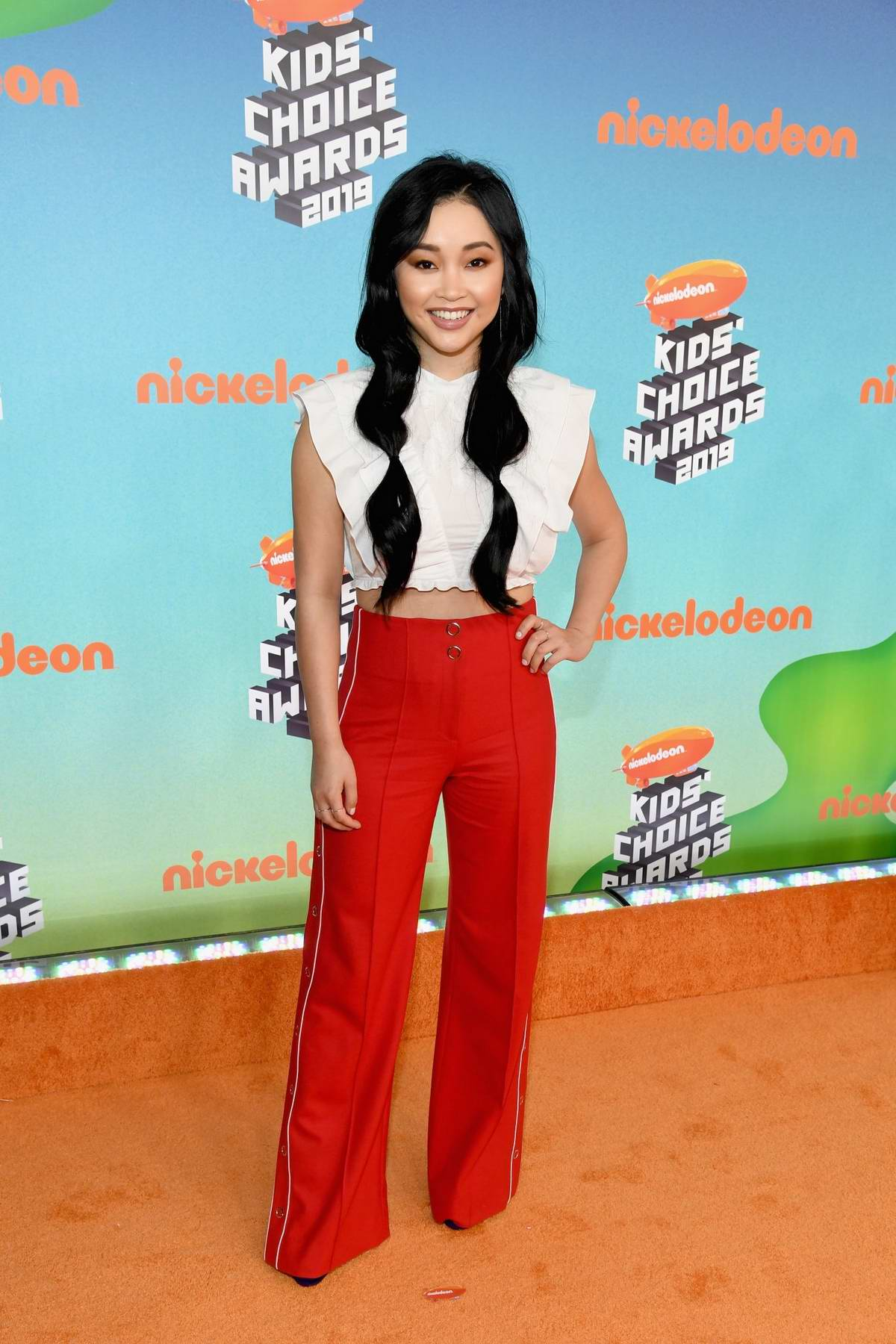 Lana Condor attends the Nickelodeon's 2019 Kids' Choice Awards at Galen Center in Los Angeles