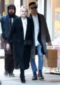 Lucy Boynton and Rami Malek hold hands as they steps out for some shopping in New York City