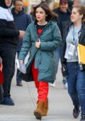 Lucy Hale spotted on the set of Riverdale spinoff 'Katy Kenee' in New York City