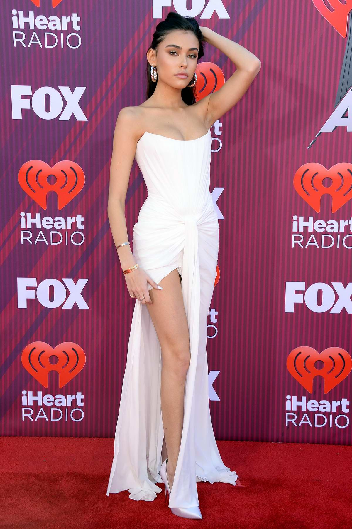 Madison Beer attends the 2019 iHeartRadio Music Awards at Microsoft Theater in Los Angeles