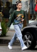 Madison Beer keeps it casual in while out grabbing lunch with friends at the Cheesecake Factory in Los Angeles