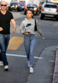 Madison Beer seen out and about with her dad in West Hollywood, Los Angeles