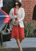 Mandy Moore seen leaving after an early dinner with Shane West in Los Angeles