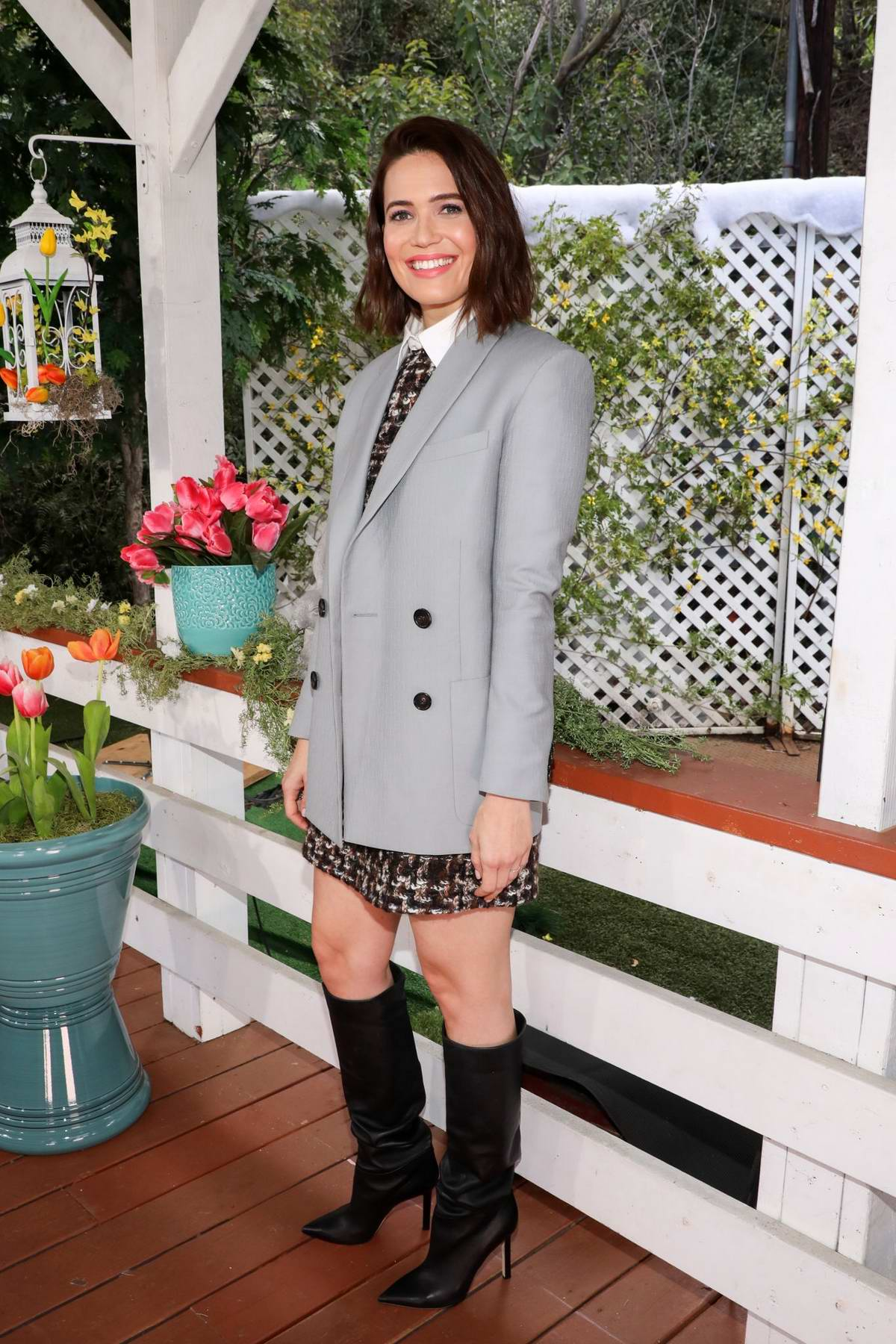 Mandy Moore visits the Hallmark's 'Home & Family' at Universal Studios Hollywood in Universal City, California