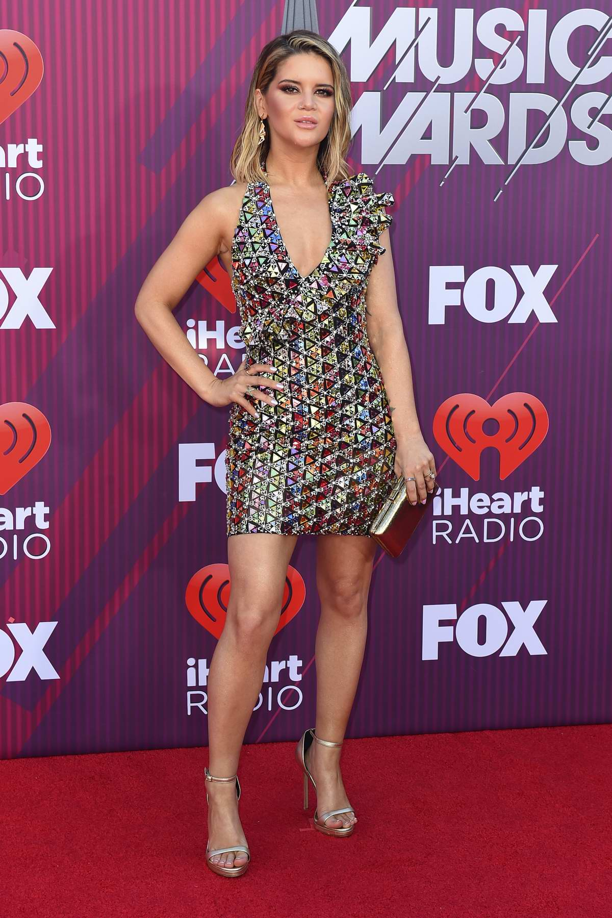 Maren Morris attends the 2019 iHeartRadio Music Awards at Microsoft Theater in Los Angeles