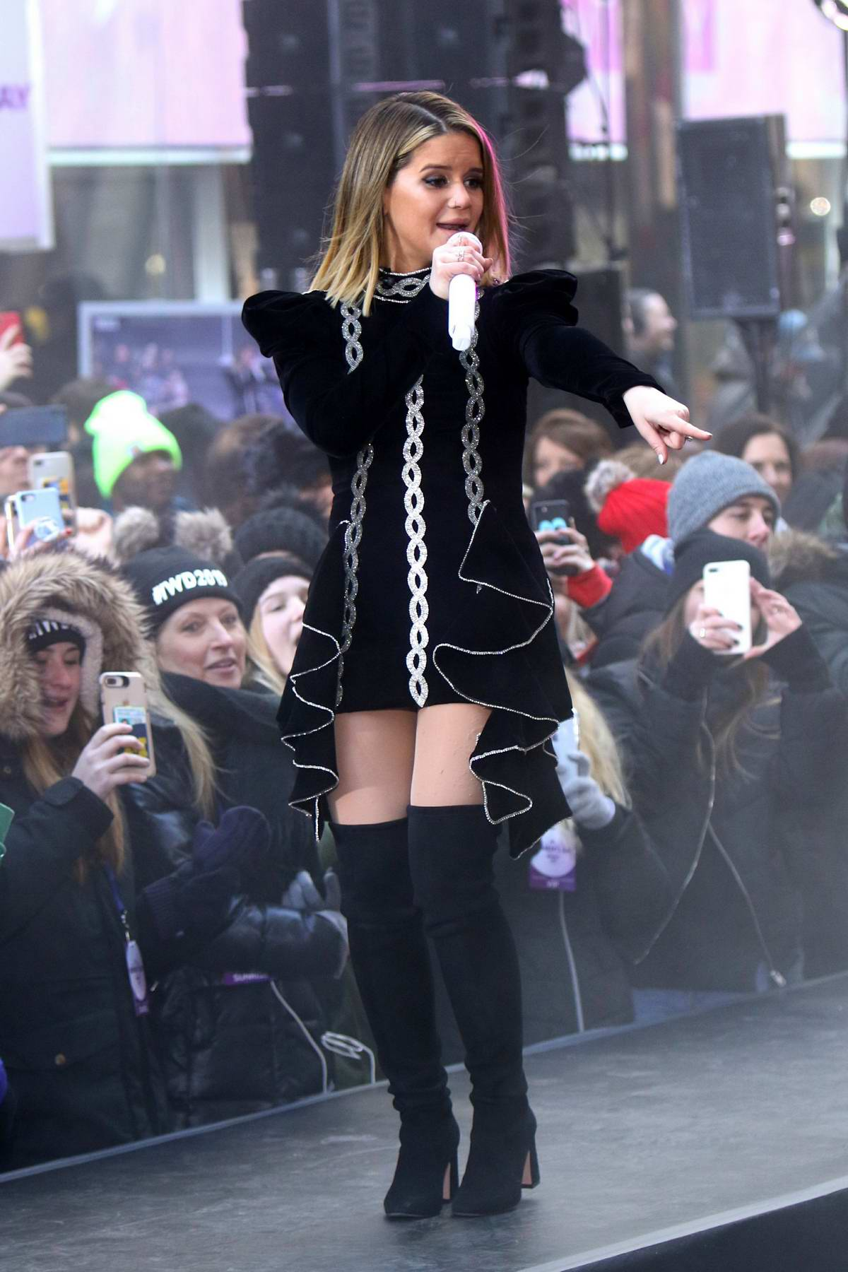 Maren Morris performs on NBC's 'Today' at Rockefeller Plaza in New York City