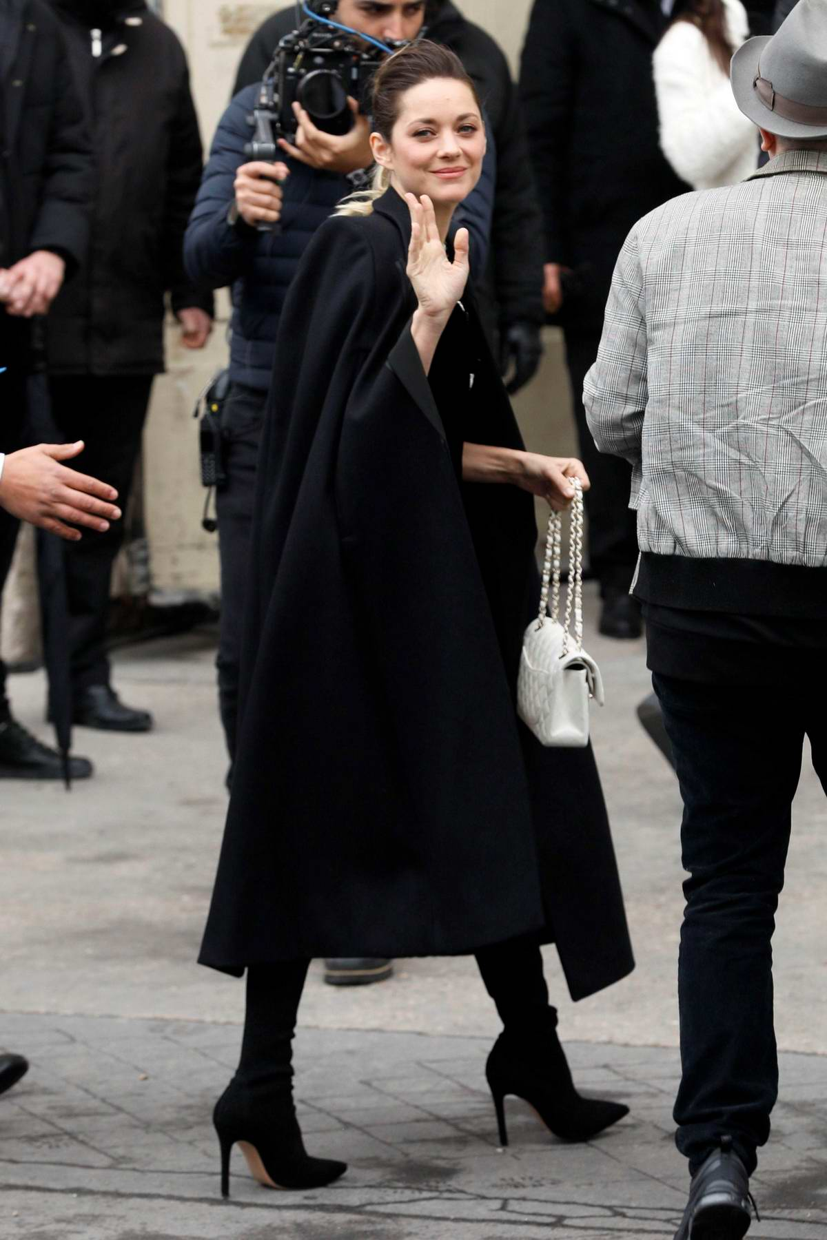 Marion Cotillard attends the Chanel show during Paris Fashion Week F/W 2019/20 in Paris, France