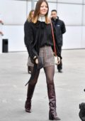 Mia Goth attends Chloé show during Paris Fashion Week Womenswear F/W 2019/20 in Paris, France