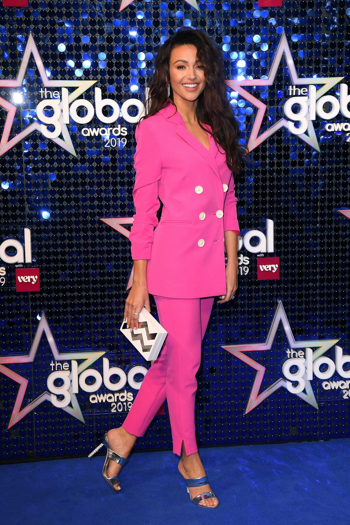 Michelle Keegan attends The Global Awards 2019 at The Hammersmith Apollo in London, UK