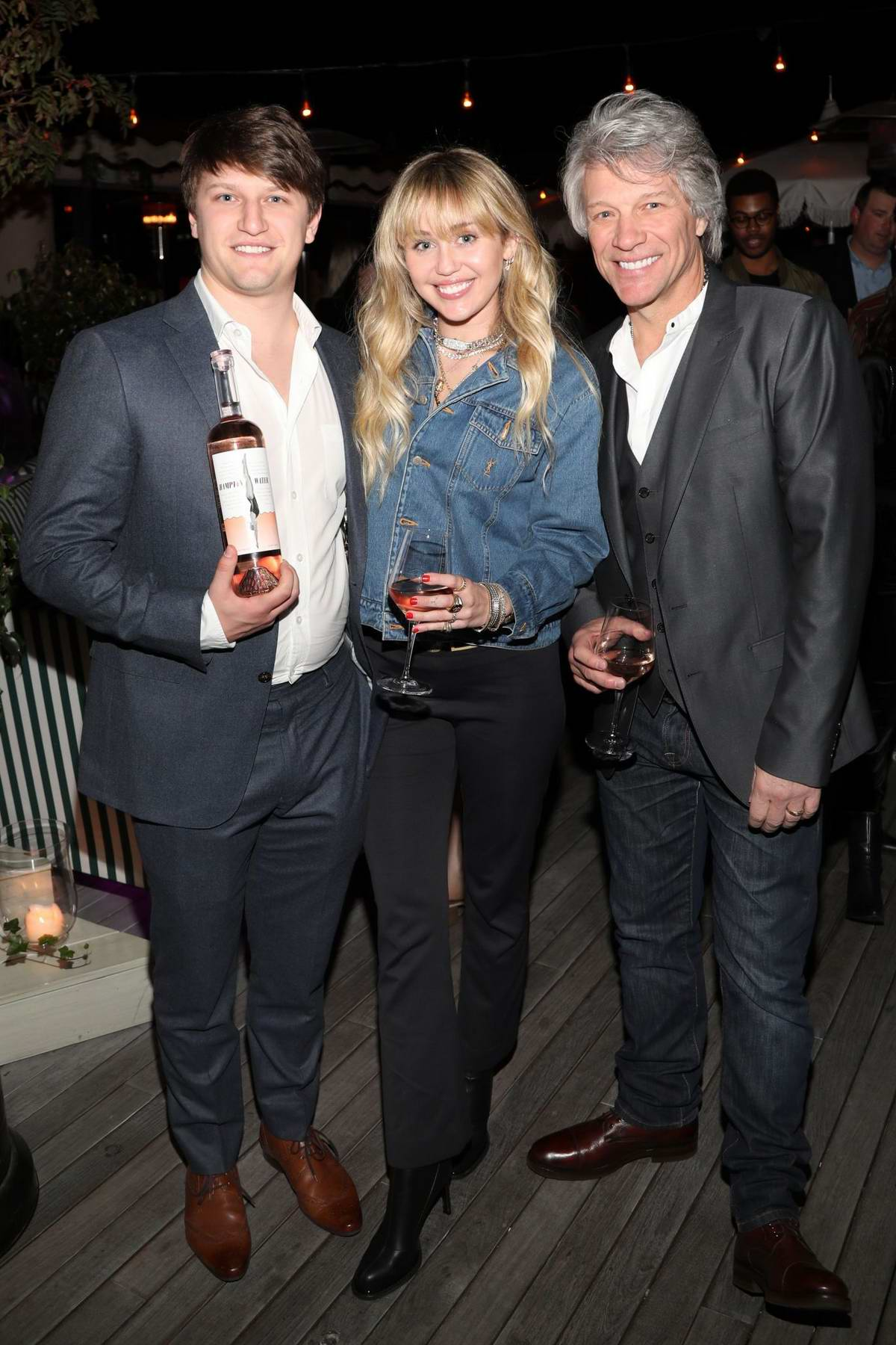 Miley Cyrus attends the Hampton Water Rosé Celebrates LA Launch at Harriet's Rooftop in West Hollywood, California