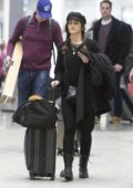 Minka Kelly spotted at the airport with her dog and luggage as she arrives into Toronto, Canada
