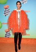 Naomi Scott attends the Nickelodeon's 2019 Kids' Choice Awards at Galen Center in Los Angeles