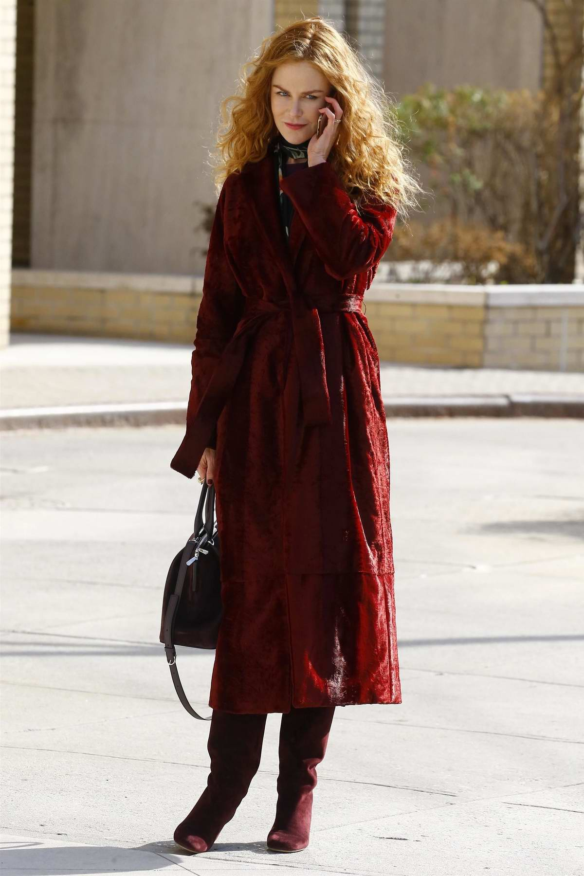 Nicole Kidman spotted on the set of 'The Undoing' series in New York City
