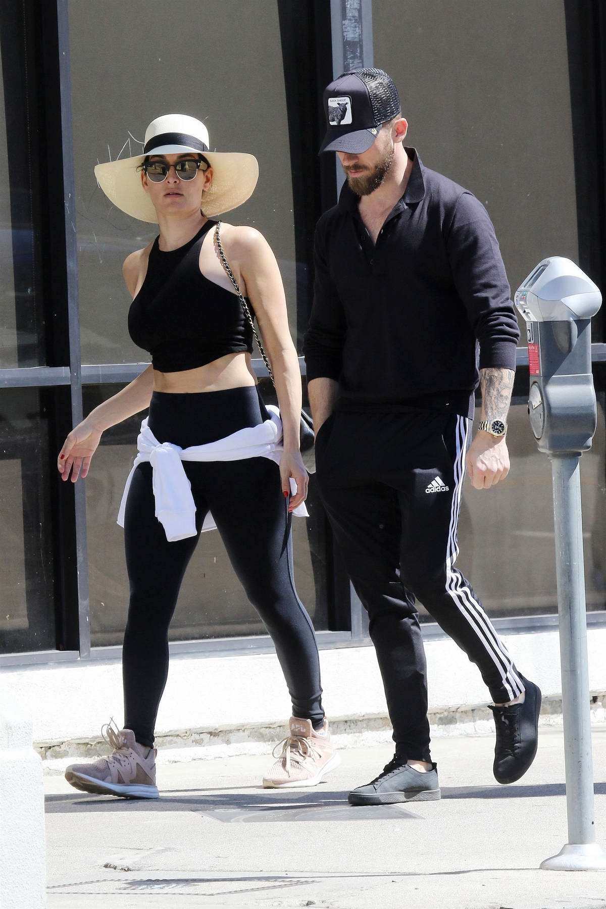 Nikki Bella and Artem Chigvintsev steps out for lunch at Joan's on Third in Los Angeles