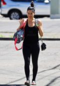 Nikki Bella rocks a black tank top and leggings as she leaves her Yoga class in Santa Monica, California