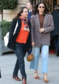 Nina Dobrev and her mother seen leaving the Ritz Hotel during PFW 2019 in Paris, France